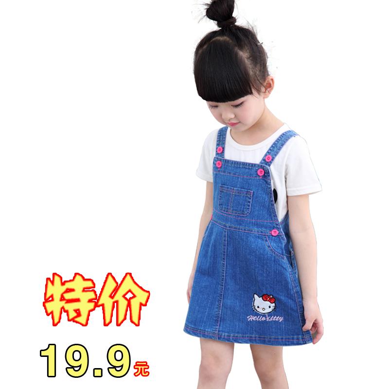 Девочки ковбой юбка ремень юбка 2017 новый летний ребенок юбка ребенок наряд 1-2-3-4-5-6-7 лет