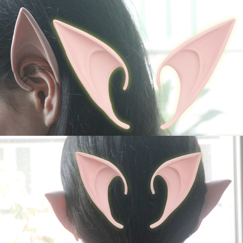 Movie role play props, demon elves ears cosplay, horror devil dance performance, selfie