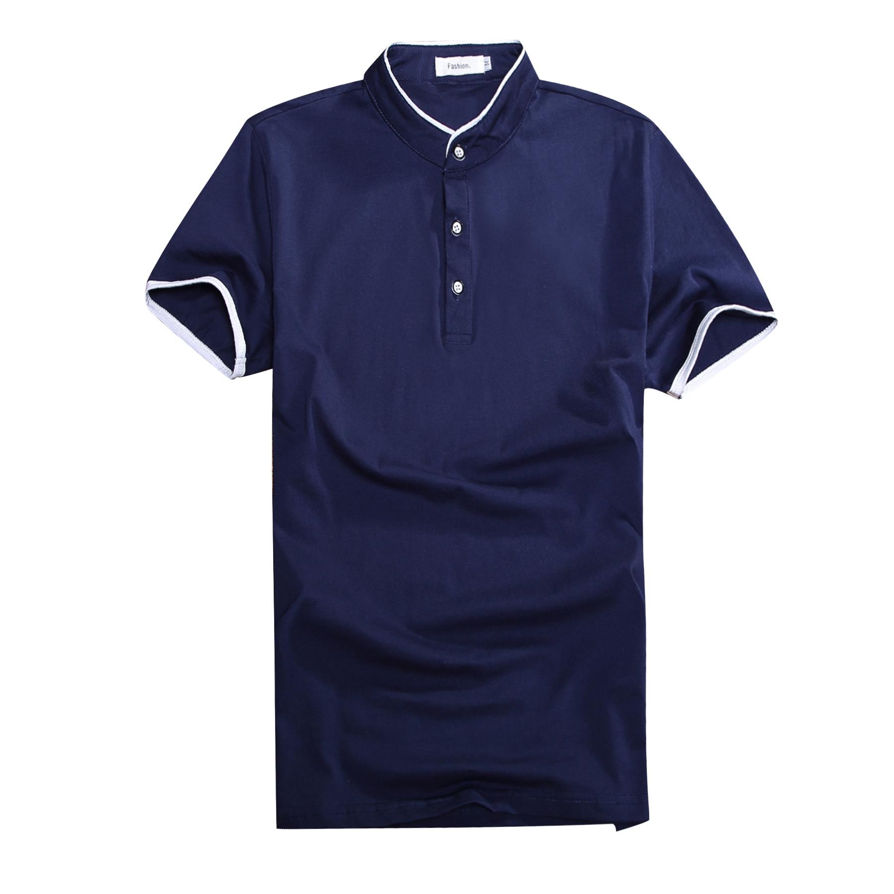 夏季短袖男士t恤立领韩版POLO衫青年潮流学生修身上衣服男装