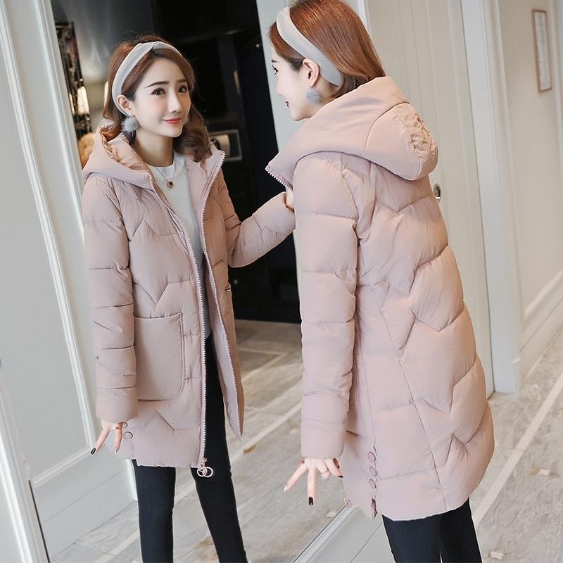 羽绒棉服女2018新款韩版修身百搭加厚女式棉袄中长款冬季棉衣外套