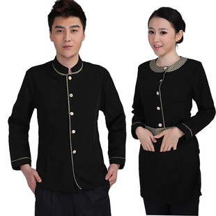 Hotel uniforms fall and winter clothes women Reception foreman teahouse restaurant waiter uniforms hotel long sleeved