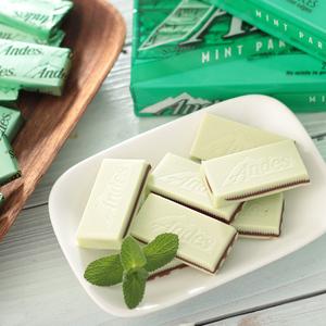 美国进口零食巧克力 安迪士/ 安迪斯Andes双层薄荷巧克力132g28片