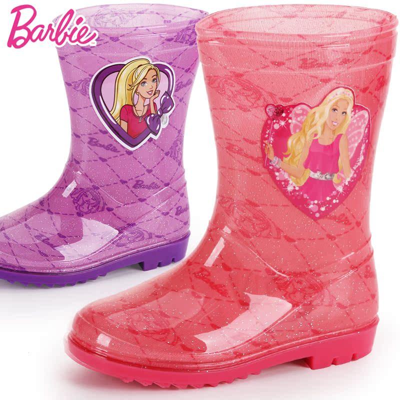 Дети дождя сапоги девушки, не нескользкие Сапоги детские ботинки воды мода Барби мультфильм Кид обувь Детская дождя сапоги