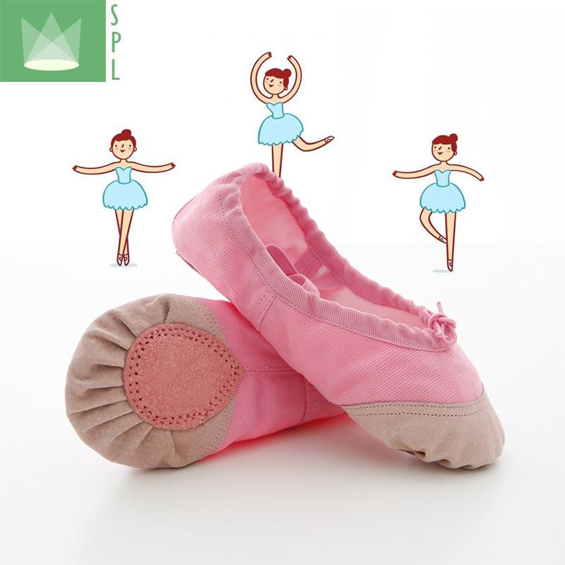 尚品琳舞蹈鞋儿童女软底练功成人形体幼儿跳舞猫爪男白女童芭蕾