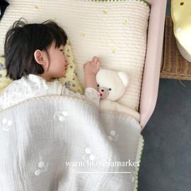 fafamarket 韩国自制柔软舒适儿童宝宝刺绣床单
