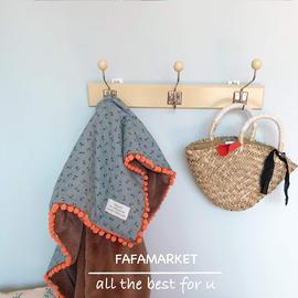 fafamarket 韩国双面印花珊瑚绒毛毯 宝宝盖毯 成人毛毯