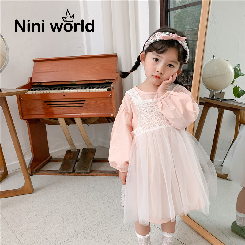 周小妮2020年春季新品女童衬裙蕾丝花边背带网纱裙两件套儿童裙子