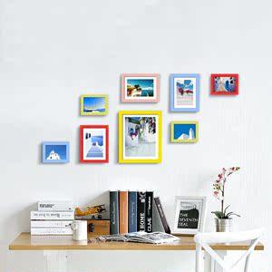 品高照片墙 相框墙8个相框创意组合相片墙书房卧室卧室影楼非主流
