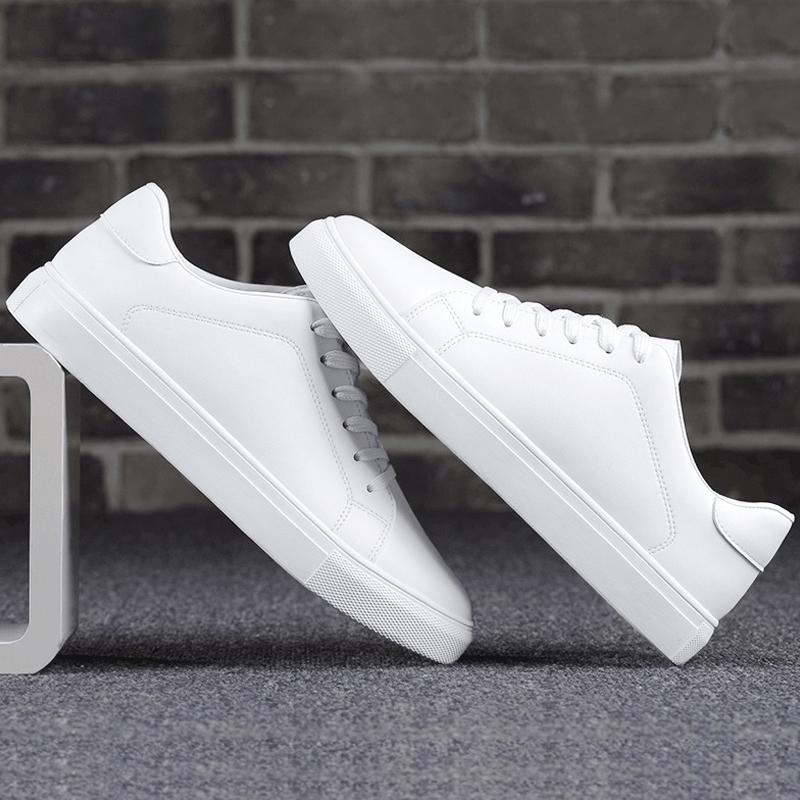 2017新款夏季小白鞋男鞋�\�影仔�白色板鞋男休�e�n版潮流百搭潮鞋