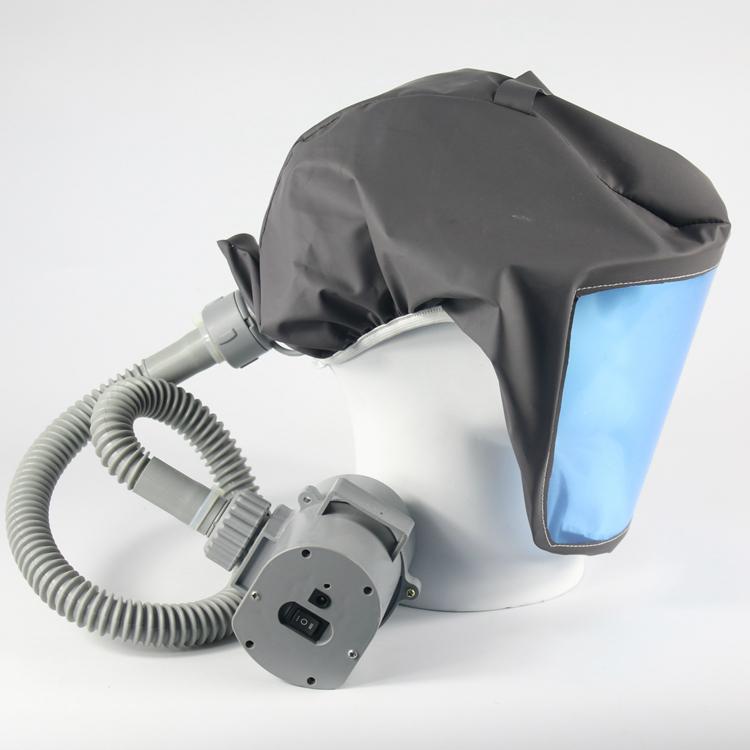 以勒新品 移动式 自吸式呼吸器电动送风过滤式呼吸头罩充电式包邮