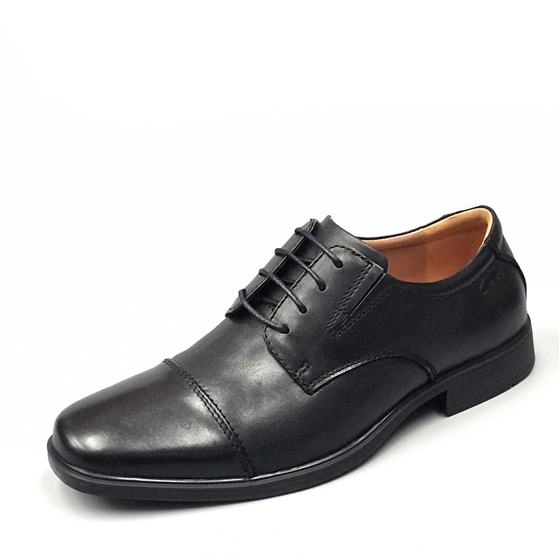 Qile dynamic mens shoes 2020 spring and autumn new lace up business formal leather shoes Tilden cap Derby shoes in stock