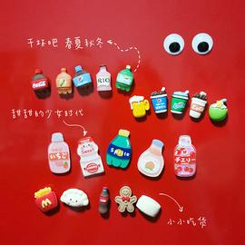 饮料可乐冰箱贴食物亚克力磁性贴网红个性创意3d立体装饰品ins风图片