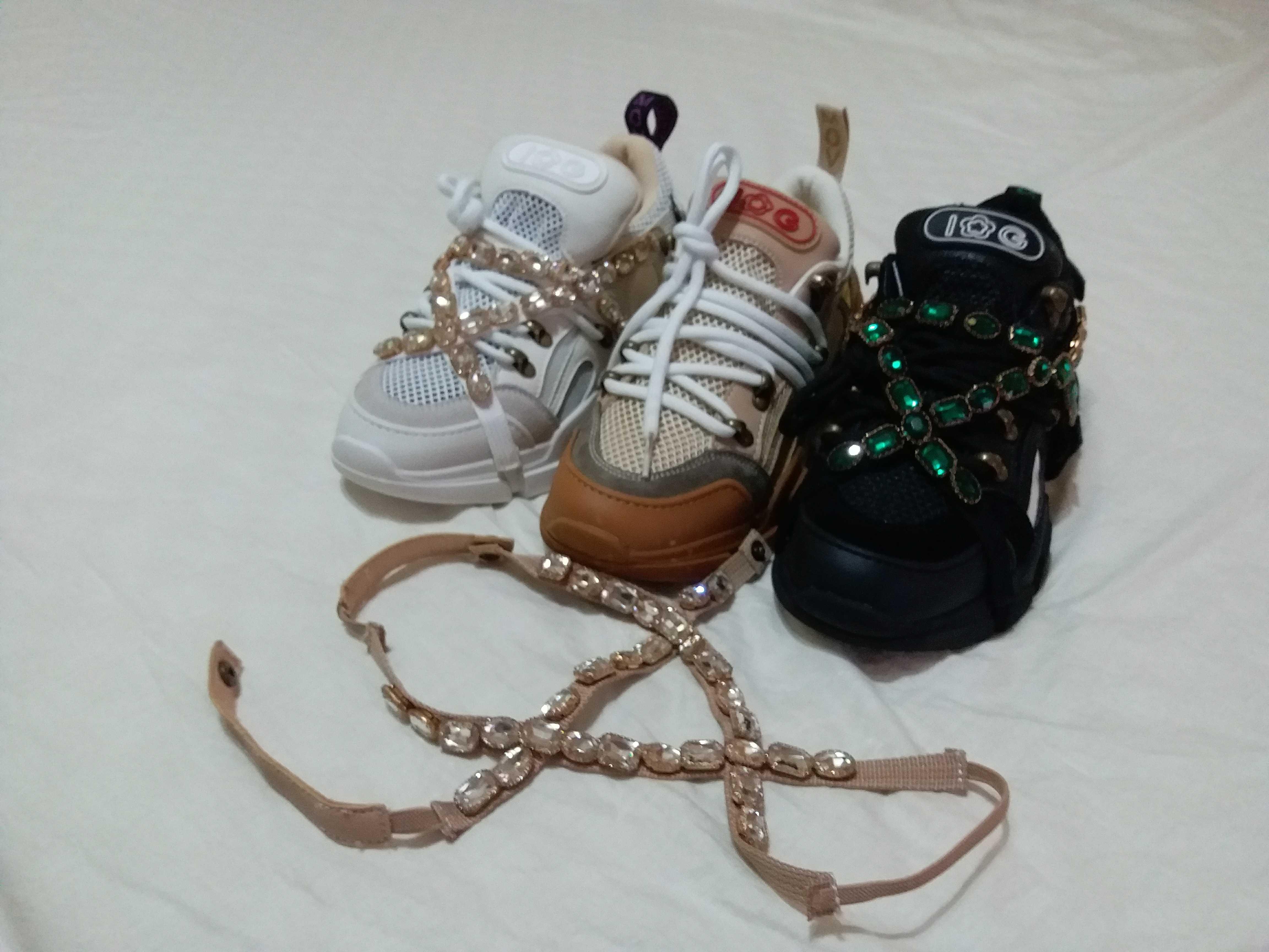 IG新款真皮牛皮女鞋透气网布圆头系带单鞋休闲运动低帮鞋8077-1