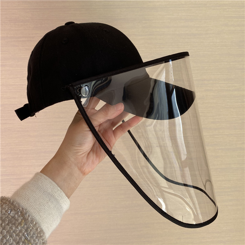 飛沫防止野球帽韓国防護マスク帽子春夏新型男女防風、日よけハンチングの取り外しができます。