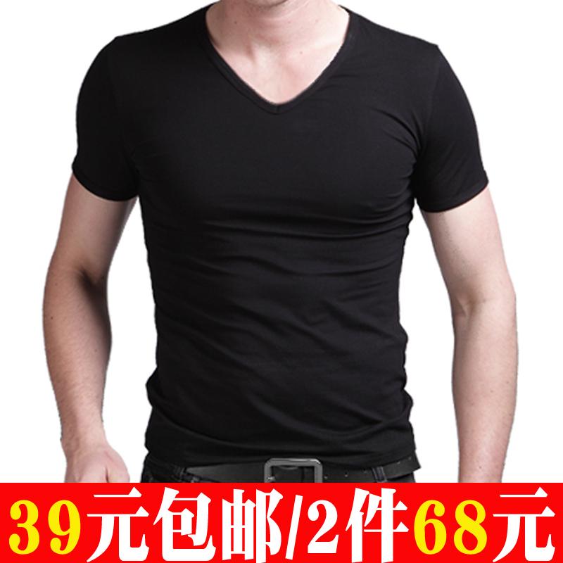 云森男装t恤2件68包邮短袖打底衫(用1元券)