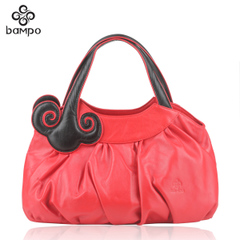 Banpo decorated original art leather handbags genuine high-end handbags counters stylish folding bag