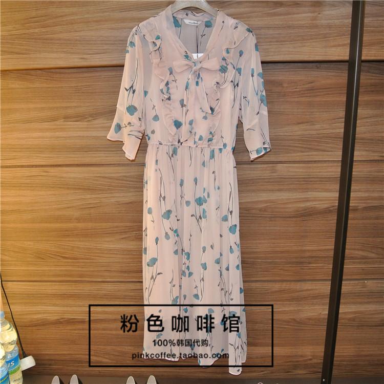 韩国直邮正品代购ROEM18秋款女款时尚气质淑女连衣裙RMOW837RQ7