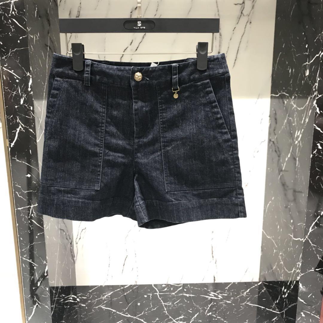 轻奢女装设计师品牌专柜精品进口牛仔短裤WL09015