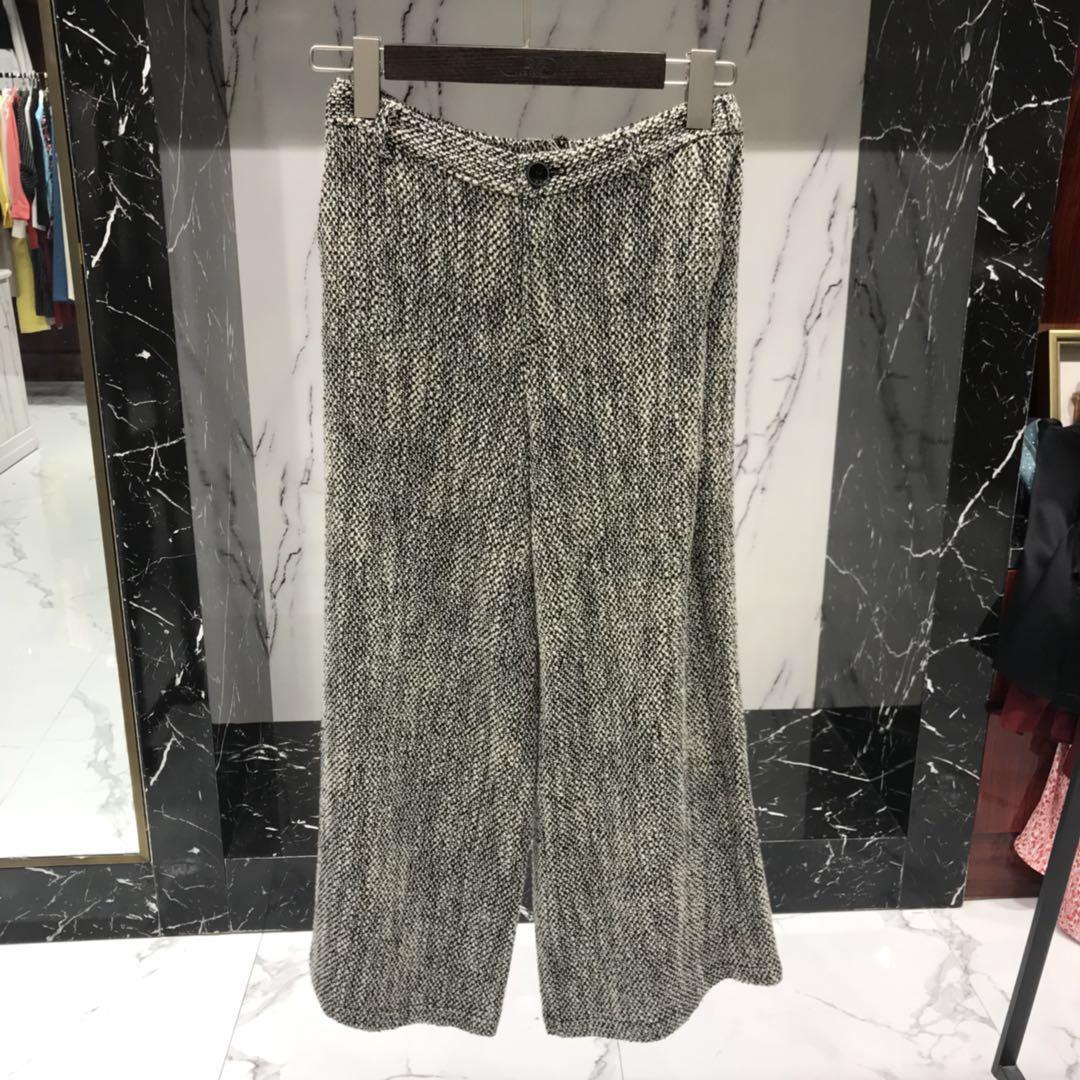 轻奢女装设计师品牌专柜精品长裤0300809