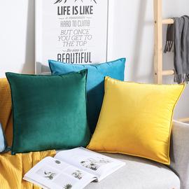 北欧沙发抱枕靠垫背客厅天鹅绒靠枕套45x45床头靠包加大号靠背垫