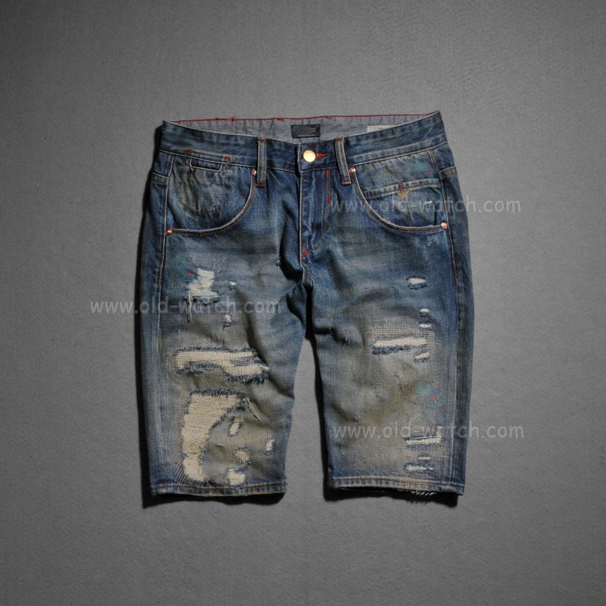 Человек, Стиральная щетка желтого патч джинсовой ткани Capris 2752
