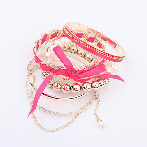 1301 Jewelry New Girl accessories female Korean version of sweet pearl woven multi-layer Bracelet