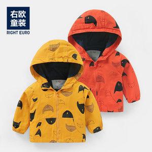 男童加绒冲锋冬季宝宝童装1岁风衣