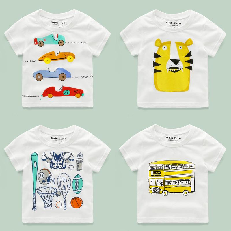 儿童短袖T恤纯棉夏装童装女童宝宝男童白半袖小童婴儿3岁1潮2上衣