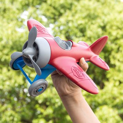 美國Green Toys飛機直升機模型玩具 兒童環保材質耐摔滑行戰機