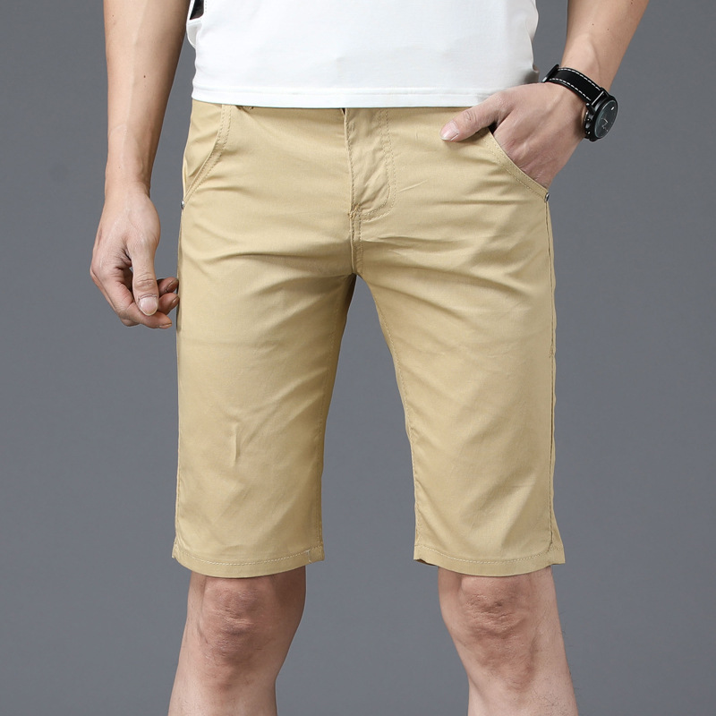 Summer thin mens casual shorts mens Capris youth SLIM STRAIGHT pants mens fashion