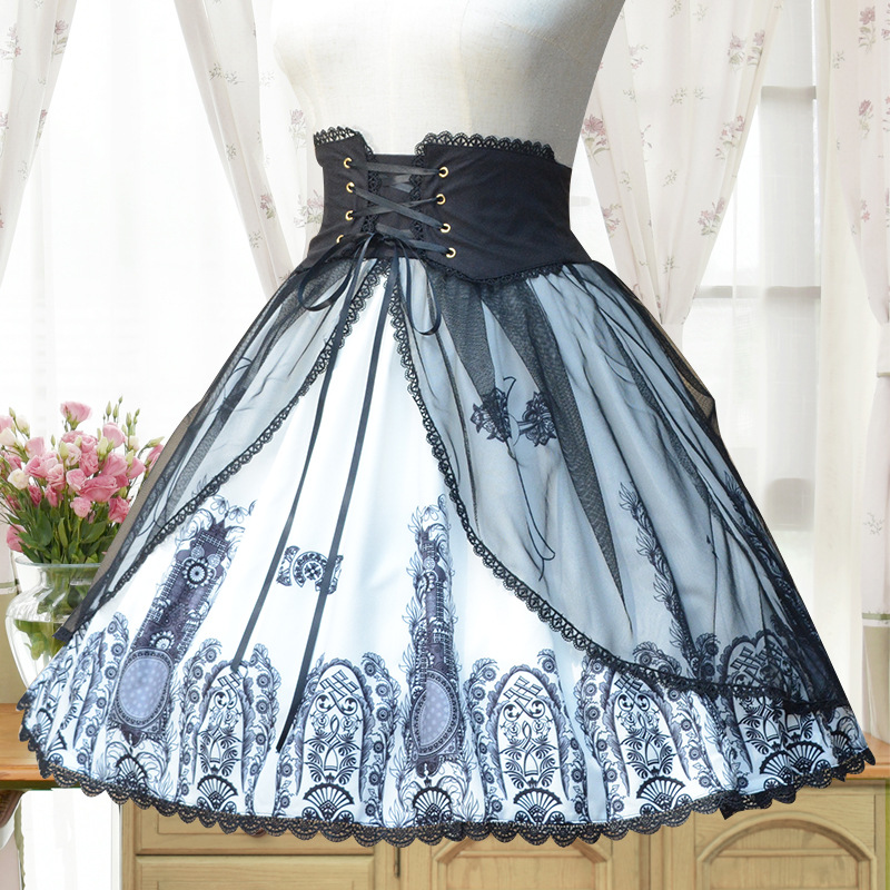 Brocade Garden Original Lolita Lolita classic retro elegant dress Cross Church skirt sk