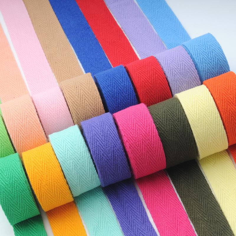 包边条滚边条全棉带子人字带纱绑织黑白色1CM棉宽布条包边绳2厘米