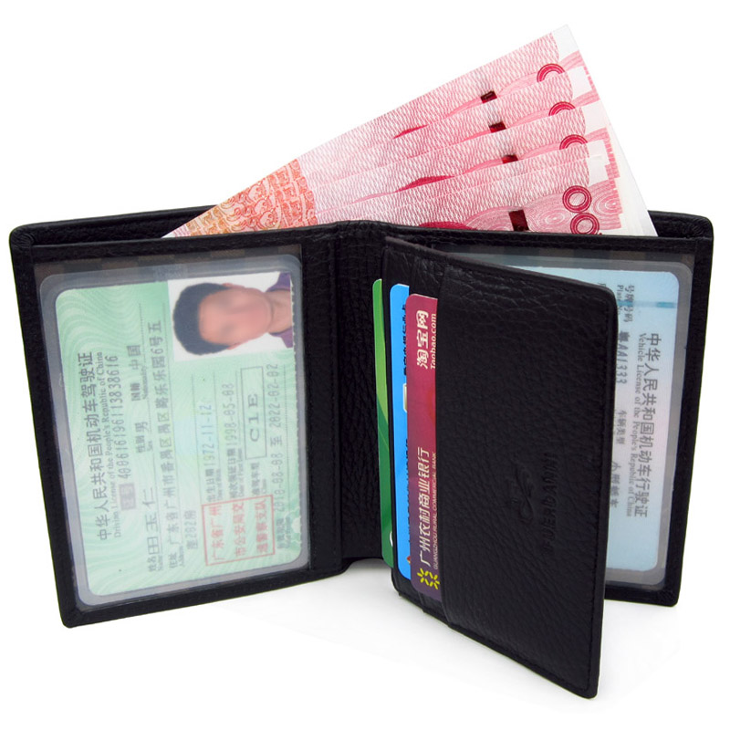Drivers license wallet drivers license holster mens wallet 2020 new soft leather short multi-functional leather ultra thin