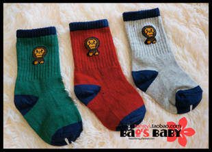 Tide brand clothing child children ape head bape baby milo cotton children s socks Baby Socks may be granted