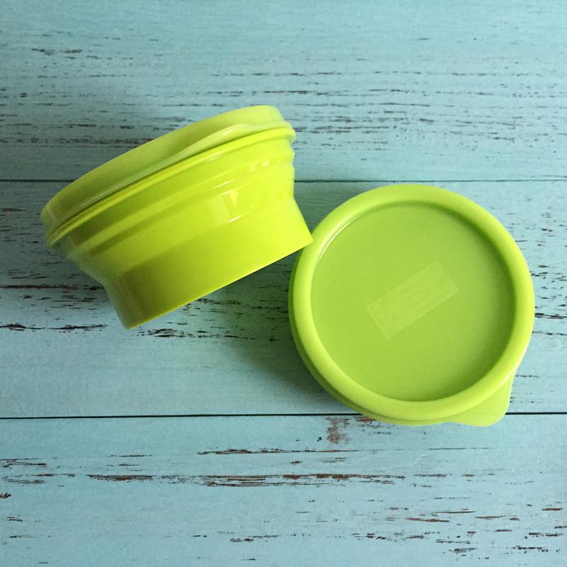 Япония один силиконовый сложить чаша нулю еда коробка легко коробка пузырь чаша крышка портативный на открытом воздухе посуда бесплатная доставка