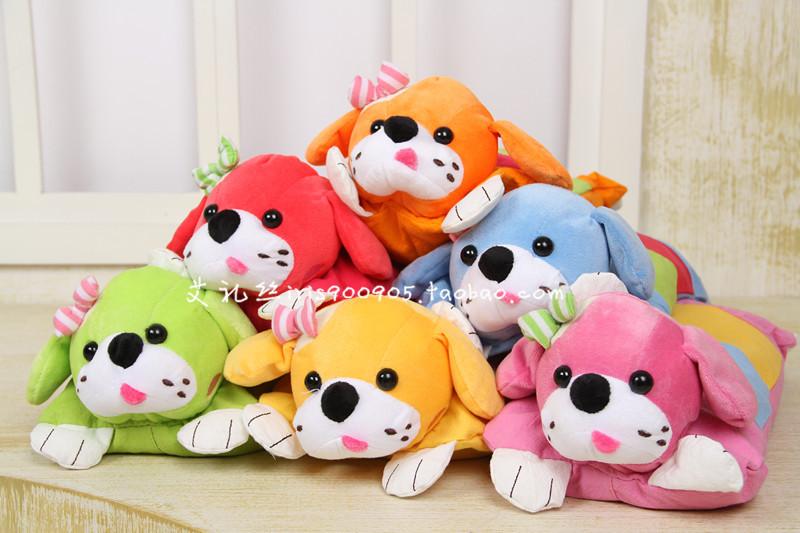 幼儿儿童多用枕头 韩版卡通立体小狗 小号荞麦枕 男女童 纯棉绉布