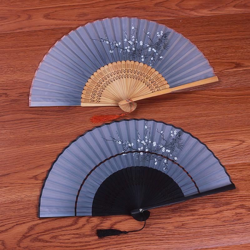 古风女式夏季随身折叠小中国风扇子