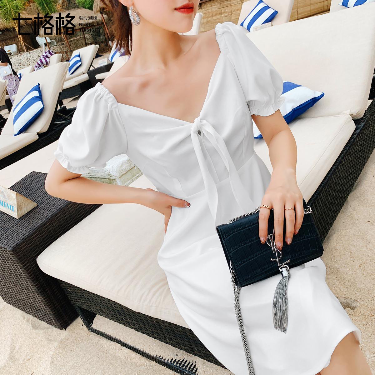 七格格白色连衣裙女仙气质仙女裙子12月01日最新优惠