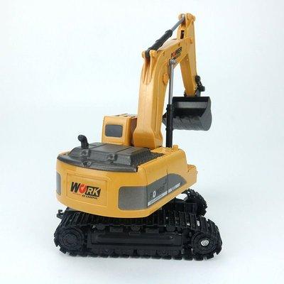 儿童手势感应工程车遥控电动挖掘机玩具模型 充电车中彤童车玩具