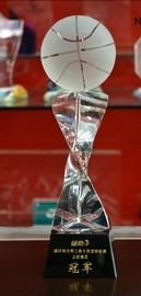 水晶奖杯奖牌定做黑八球奖杯篮球足球高尔夫排球奖杯定制桌球刻字图片