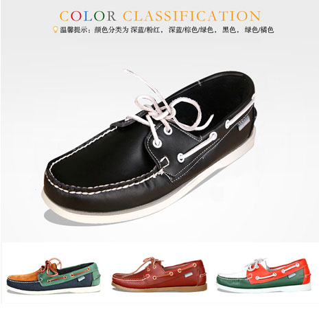 Authentic ship shoes mens shoes sailing shoes womens couple antiskid wear resistant yacht shoes boat shoes black real leather shoes