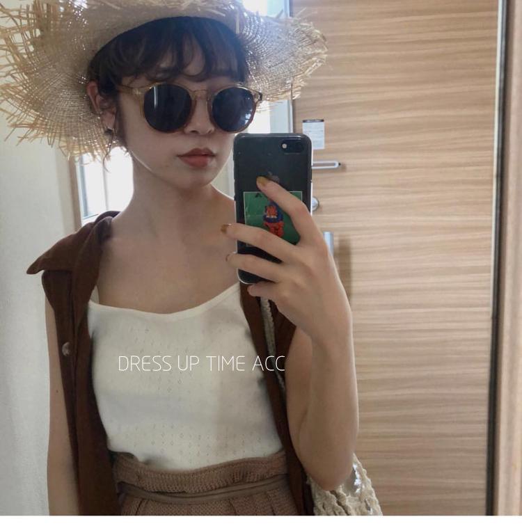 熙熙酱日本RILI系LATTICE风格流行太阳眼镜韩国风CHIC圆形墨镜