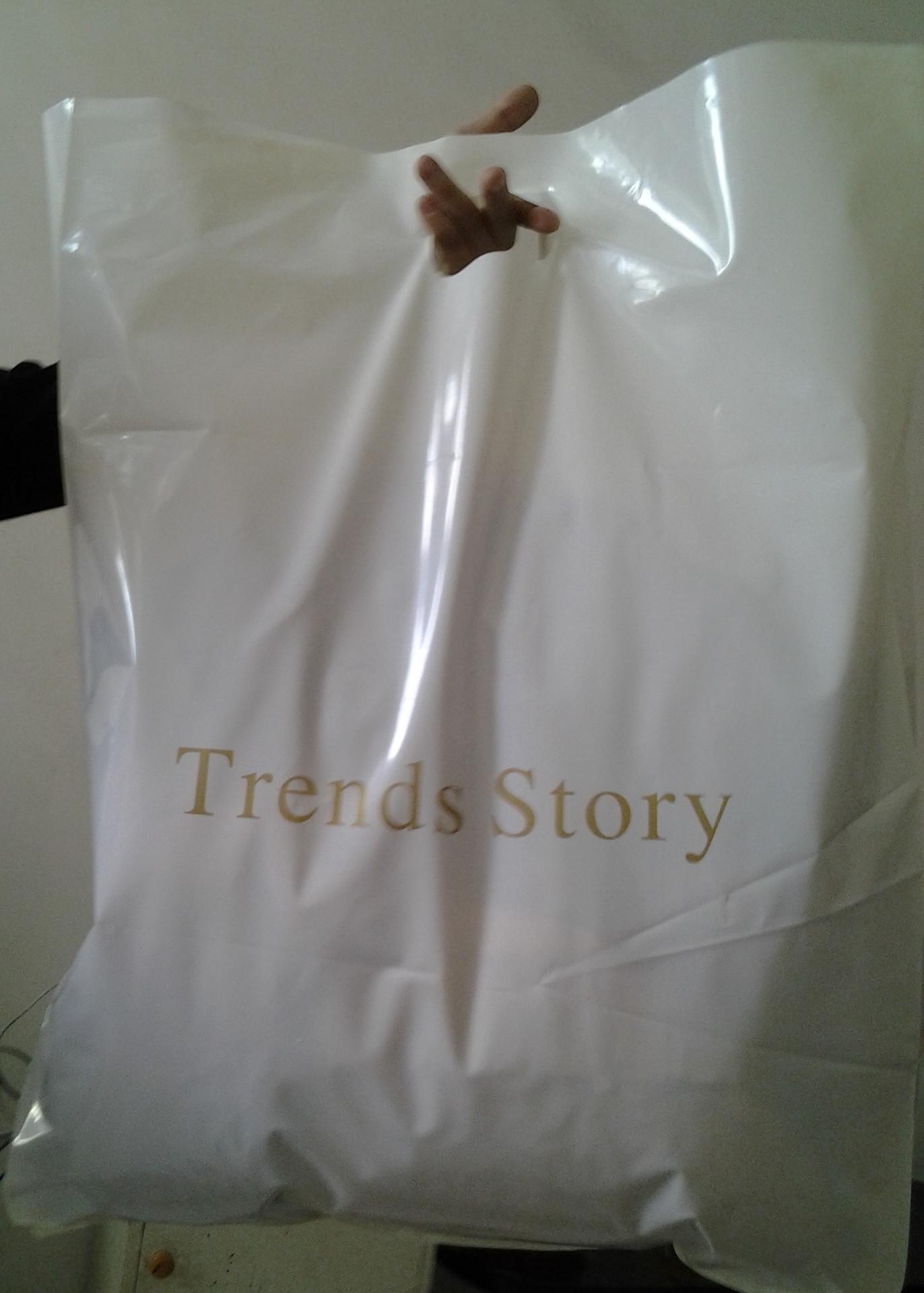 特惠流行故事58*68服装袋/塑料袋购物袋/手提袋50个包特大加厚