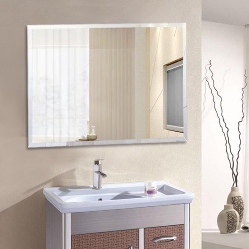 浴室镜壁挂卫浴镜可粘贴厕所卫生间镜子玻璃定做贴墙大镜子化妆台限5000张券