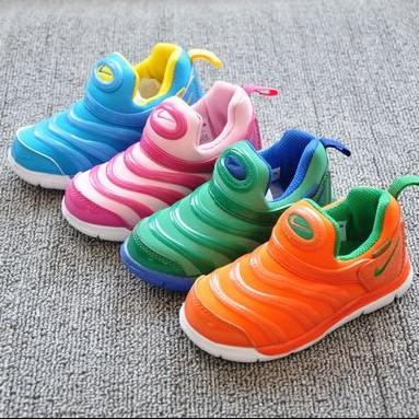 2 двойной пост! Детей мальчиков и девочек внешней торговли ультра легкие туфли осень/зима гусеницы обувь 25-37