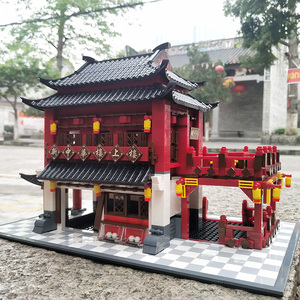 中国风兼容乐高积木中华街成年房子别墅型拼装玩具大人高难度18岁