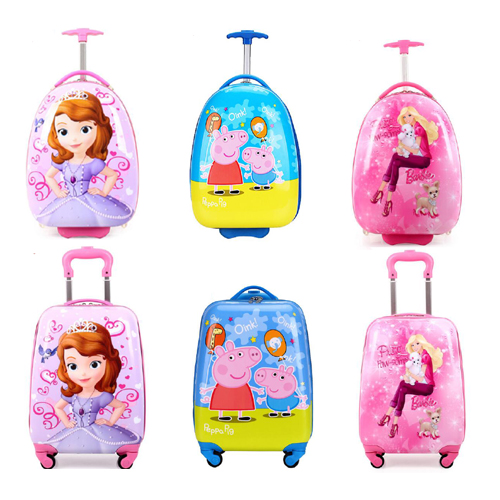 Cartoon eggshell children Trolley Case boys and girls 18 inch primary school students universal wheel outdoor travel case