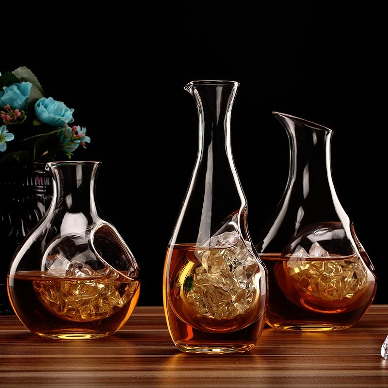 冰酒器无铅玻璃日式清酒壶玻璃清酒壶分酒器分酒壶水晶水冰酒壶
