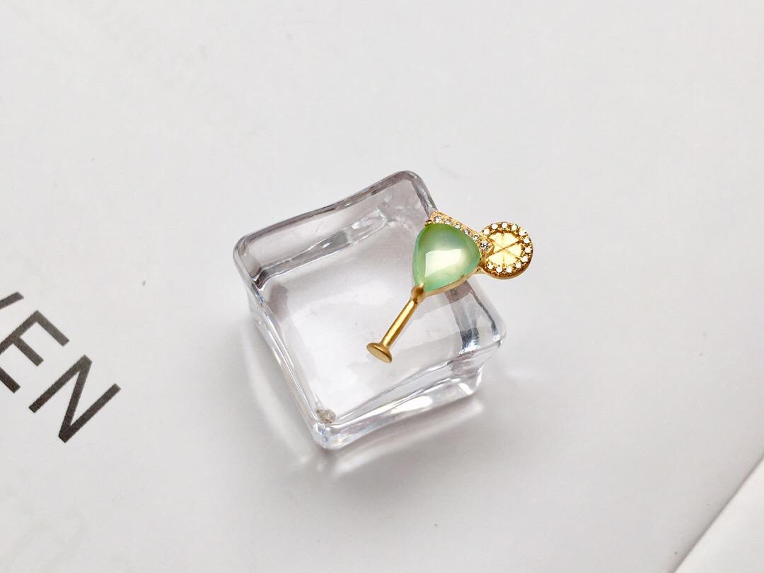 简约设计款项链女珠宝首饰18K金玉石翡翠镶嵌装饰品配饰锁骨链