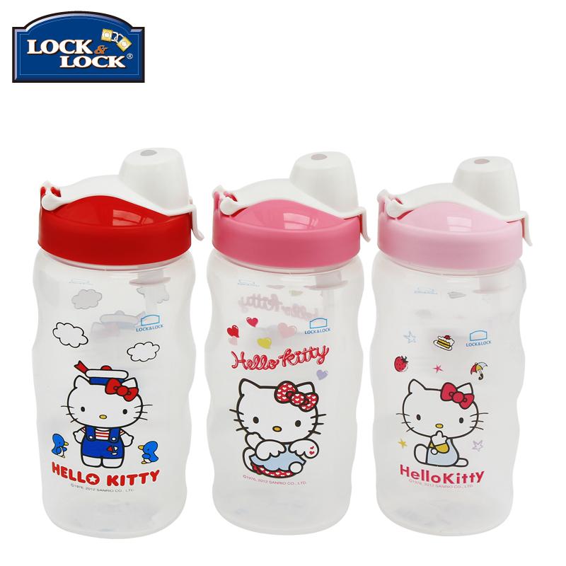 乐扣乐扣水杯HelloKitty HPP726T环保卡通可爱儿童杯吸管杯水杯子